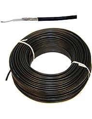 1Meter Flexible RG-58Cable Coaxial Color Negro–Cable coaxial RG58para FM Radio VHF en Marino Calidad para Yates Barco Marítimo Radio Equipo Cable Coaxial RG58/U, 50ohmios 50o, precio por metro–Color negro