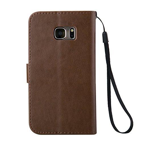 Meet de Case pour Apple iPhone 6 Plus / iphoen 6S Plus (5,5 Zoll) PU Housse, papillon print / Folio Wallet / flip étui en cuir / Pouch / Case / Holster / Wallet Style de Coque pour téléphone portable  brun foncé