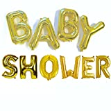 #7: Golden Baby Shower Foil Balloon(Pack of 10) {18 inch}for Birthday Decoration,Baby Shower,Wedding,Festival,Party