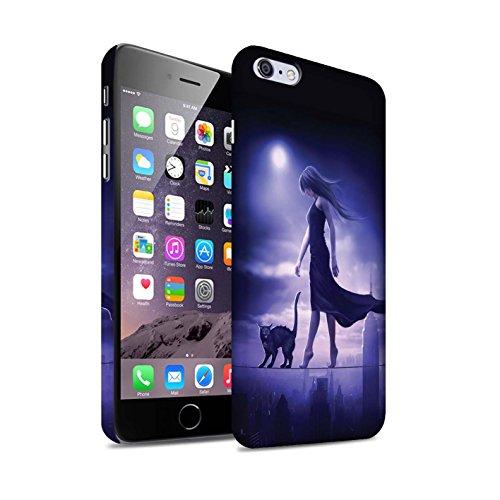 Officiel Elena Dudina Coque / Clipser Matte Etui pour Apple iPhone 6+/Plus 5.5 / Vent/Orage/Forêt Design / Magie Noire Collection Somnambule/Insomnie