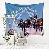 MSHTXQ Beautiful Cartoon Landscape Series Polyester Tapestry Wall Hanging Landscape Beautiful Beach Towel Beach Blanket Blanket 230X180CM