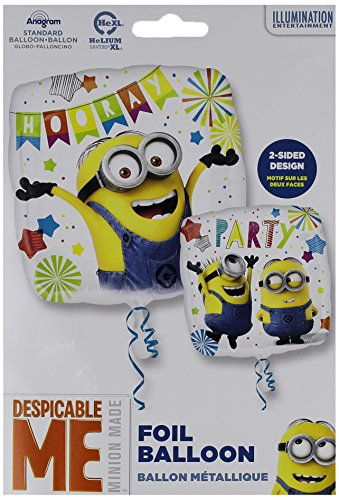 Amscan International 3615901 Folie balloonsd-sq: Despicable Me Party