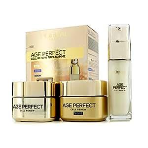 L'Oreal - Age Perfect Cell Renew Programme: Night Cream 50Ml + Day Cream Spf 15 50Ml + Serum 30Ml 3Pcs - Soins De La Peau