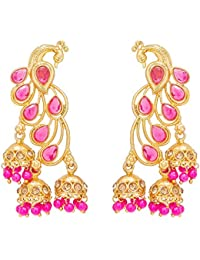 The Luxor Traditional Gold Plated Peacock Jhumki Earring For Women And Girls(ER-1758)