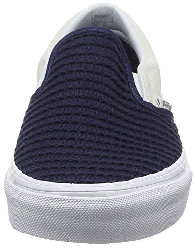 Vans Classic Slip-on, Scarpe da Ginnastica Basse Unisex Adulto Nero (Suede/Woven navy blue/true white)
