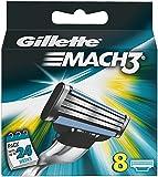 Gillette Mach3 Manual Razor Blades - Pack of 8 Blades