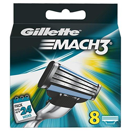 Gillette Mach 3 Manual Razor Blades - Pack of 8