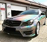3M Scotchcal 1080 GP281, Gloss Flip Psychedelic,Premium Autofolie, 3D verformbar mit Luftkanälen, Carwrapping Folie schwarz Glanz 152cm x 100cm, für Motorhaube- oder Dachfolierung, SE