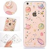 """Sycode Coque pour iPhone 8 4.7"""",Luxe Bling Glitter Créatif étoile Planète Modèle Transparent Etui Housse pour iPhone 8 4.7""""/7 4.7""""-Transparent"""