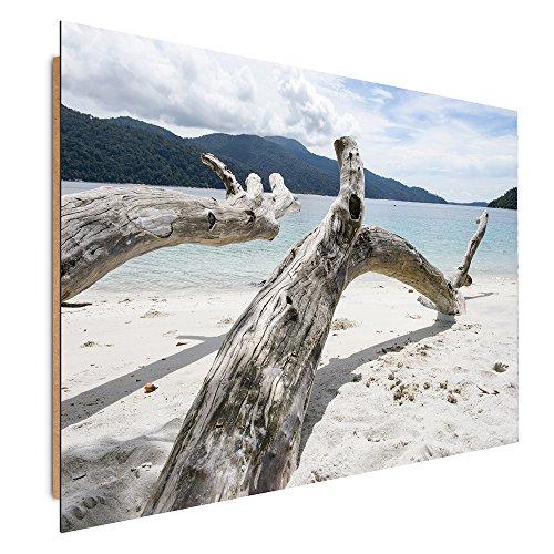Feeby Frames, Tableau mural, Tableau Déco, Tableau imprimé, Tableau Deco Panel, 60x90cm, PLAGE, MER, BLANC, BLEU