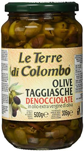 Le Terre di Colombo - Entsteinte Taggiasca-Oliven im Nativen Olivenöl Extra (36 {860cfb297c6c0d9290ba4e0aeda5af9ba9830ba17c16fde9fb70e49f2ed85868}), 500 g