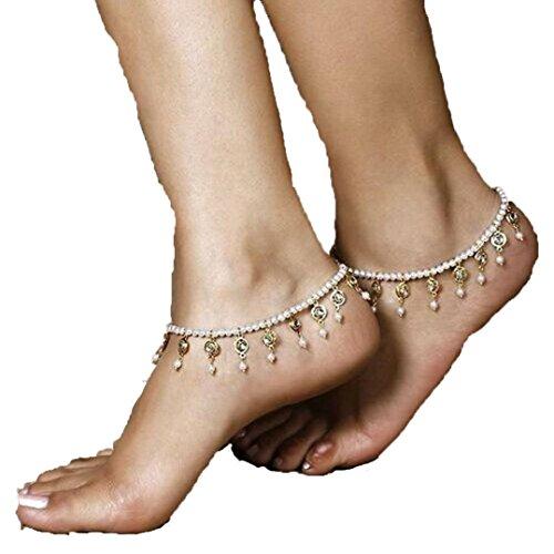 Ankle Bracelet,Saingace Women Lady Elegant Sexy Fashion Beach Barefoot Sandal Foot Pearl Bead Jewelry Anklet Chain Tassel