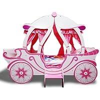 Prinzessin Kutschenbett 2nd Edition! Mädchenbett Kutsche in Rosa und Pink. Traumhaftes Mädchen Kinderzimmer. Kostenloser Sofortversand.