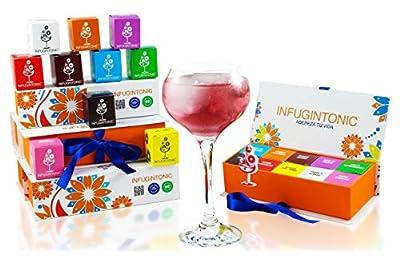 Infugintonic - Boîte de Dégustation - Gin & Tonic Infusions Naturelles pour Gin, Rhum et Vodka - 10 Unités