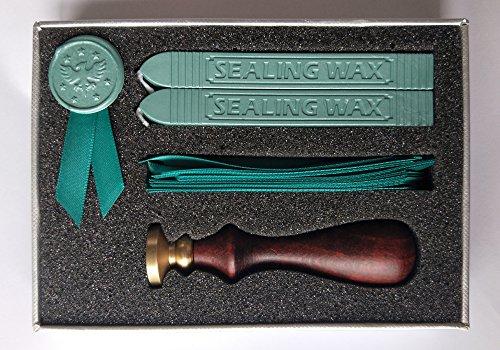 letteng Handwerk DIY Ribbon & Stempel Wax Seal Kit mit 2Siegelwachs Sticks und 1Wachs Stempel Geschenk-Set - Adler (Adler-stempel)
