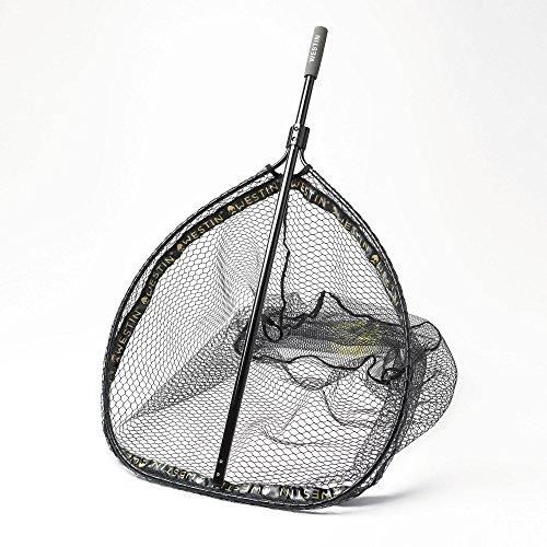 Westin W3 CR Landing Net L Kescher für Hecht, Zander, Barsch, Forellen, Karpfen, Unterfangkescher, Bootskescher, Angelkescher fürs Ufer & Angelboot, Fischkescher mit gummiertem Netz