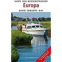 Karte der Wasserstraßen Europa