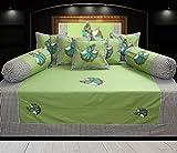 #10: Hargunz Diwan-e-khas Cotton 8 Piece Diwan Set - Green (dwn-rajw-grn)