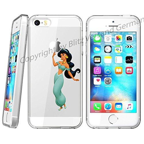 omic Cartoon Figuren kompatibel für iPhone 6 / 6s Jasmin Prinzessin Aladin Schutz Hülle Case Bumper transparent M2 ()