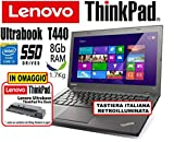 Notebook Ultrabook Lenovo ThinkPad T440 - Intel Core i5-8Gb RAM - 180Gb SSD -...