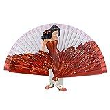 Abanico con flamenca Talla: U Color: ROJO