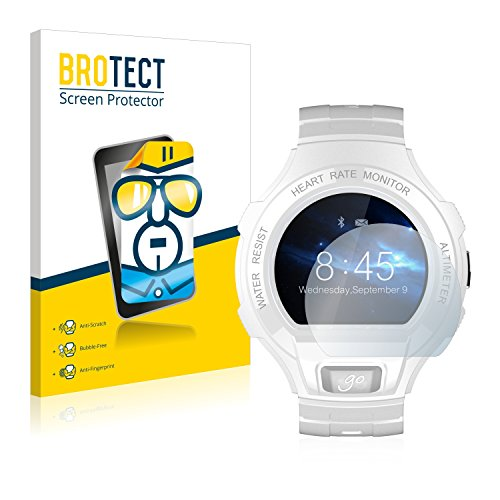 BROTECT Schutzfolie kompatibel mit Alcatel Go Watch [2er Pack] klare Bildschirmschutz-Folie