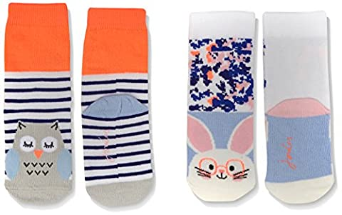 Joules Baby - Mädchen Socken Gr. S , Multicoloured (Bunny and Owl)