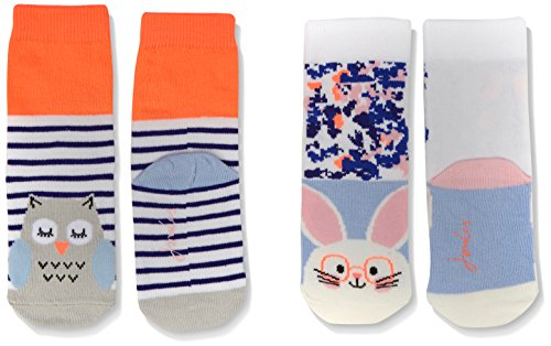 joules-baby-madchen-socken-neat-feet-2er-pack-multicoloured-bunny-and-owl-l