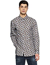 Jack & Jones Men's Floral Slim Fit Casual Shirt