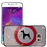 Grand Phone Cases Bild Hart Handy Schwarz Schutz Case Cover Schale Etui // M00141082 Registrieren Dog Leech Silhouette // Samsung Galaxy S6 (Not Fits S6 EDGE)