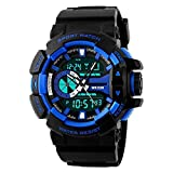 Xotak Analogue + Digital Multi Functional Stainless Steel Dual Time Outdoor Blue Dial Sports Watches, Army Watches for Mens & Boys