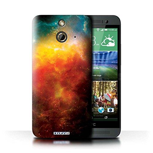 Kobalt® Imprimé Etui / Coque pour HTC One/1 E8 / Éclipse Jaune conception / Série Cosmos Nébuleuse Orange