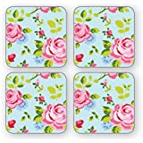 Cooksmart Vintage Floral Coasters, Pack of 4