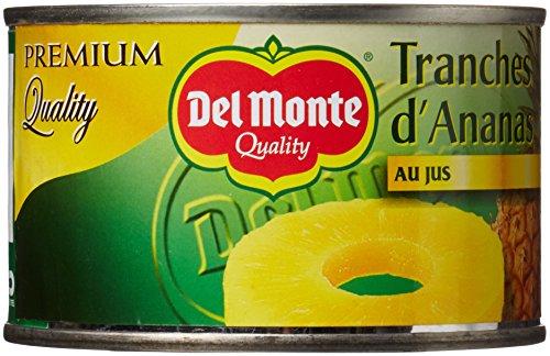 Del Monte Tranches d'Ananas au Jus 3 Boîtes de 220 g