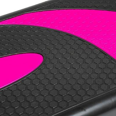 Höhenverstellbarer Stepper mit 3 Stufen (10/15/20cm), 78 x 28cm Steppbrett für Aerobic und Fitness-Workouts, kompaktes Trainingsgerät für Zuhause, Step Brett Schwarz und Grau