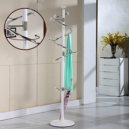 Kleiderablage SKC Lighting Moderner und einfacher Kleiderständer stehender Schlafzimmer-Metall-Edelstahl-Kleiderständer Kreativer Hauptwohnraum-Eingangs-Aufhänger (Farbe : Weiß)