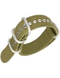 18 millimetri 20 millimetri 22 millimetri 24 millimetri dell'esercito cinghie sostituzione cinturino tela verde nylon balistico vigilanza del wristband