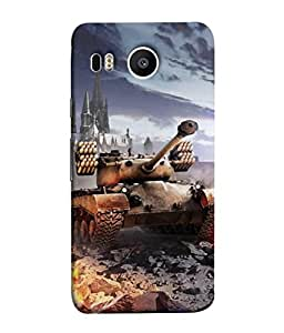PrintVisa Designer Back Case Cover for LG Nexus 5X :: LG Google Nexus 5X New (Conflict Power Battle Truck Land Dessert Heavy Earth Illustration)
