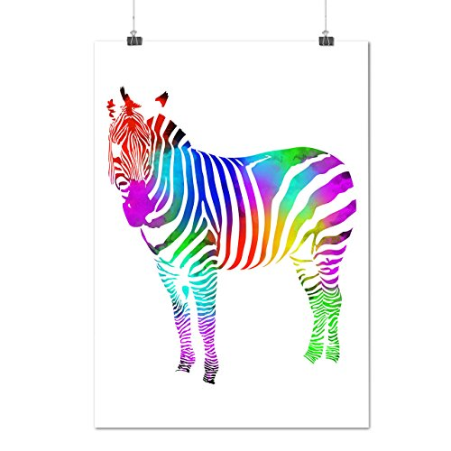 wild-rainbow-zebra-color-beast-matte-glossy-poster-a2-60cm-x-42cm-wellcoda
