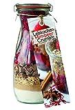 Backmischung im Glas für Lebkuchen-Himbeer-Crumble – Raffinierte Geschenkidee für Backfreunde – Backzutaten im Weckglas für die einfache Zubereitung – Gourmet Back-Mischung von Feuer & Glas