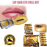 20 Auge + Lippe Gold Maske Patches Kollagen Kristall Gel Pad Gesicht Anti