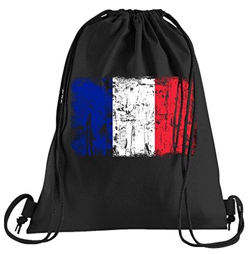 T-Shirt People Frankreich Vintage Flagge Fahne Sportbeutel – Bedruckter Beutel – Eine schöne Sport-Tasche Beutel mit ()