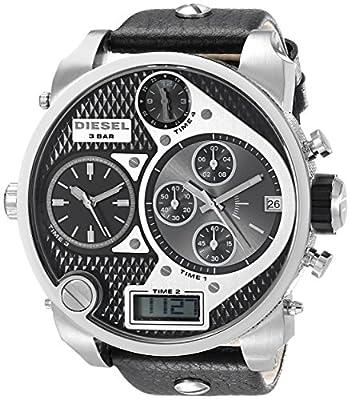 Diesel DZ7125 - Reloj de caballero de cuarzo, correa de piel color negro