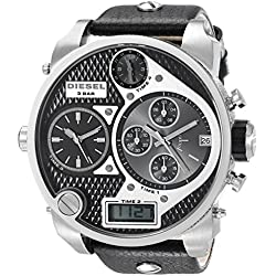Diesel DZ7125 Large Round Leather Strap Mens Watch