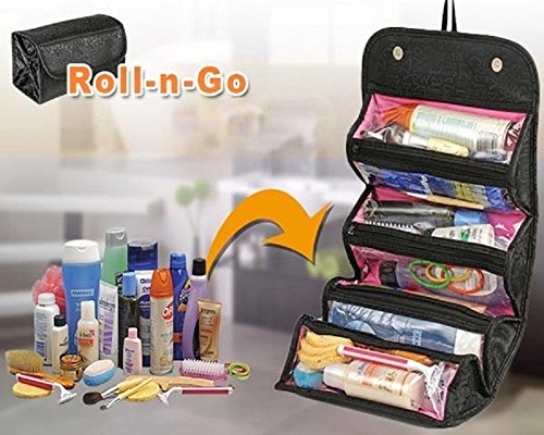 WAVE SHOP Black Roll N Go Travel Buddy Toiletry Bag  available at amazon for Rs.249