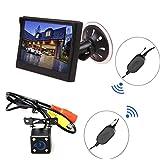 5' Système de Stationnement Ventouse Support LCD Moniteur + LED Caméra de Recul Sans Fil Vision Nocturne Voiture Auto