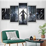 Canvas Painting 5 Piece HD Video Gamess Cool Assassins Print Printeds Posters Wall Art Home Decor SJDBF