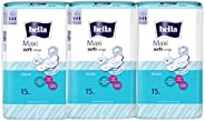 Bella Maxi Softi Wings Classic Sanitary Pads - 15 Pieces (Pack of 3)