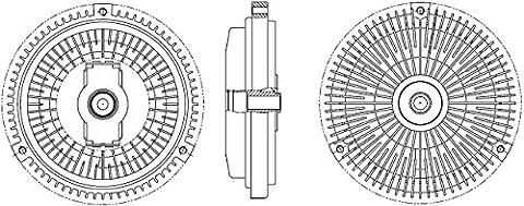 Behr Hella Service 8MV 376 757-341 Clutch, Cooling Fan