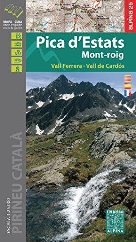 Pica d'Estats. Mont-roig, mapa excursionista. Escala :25.000. Editorial Alpina. (Mapa Y Guia Excursionista) por VV.AA.